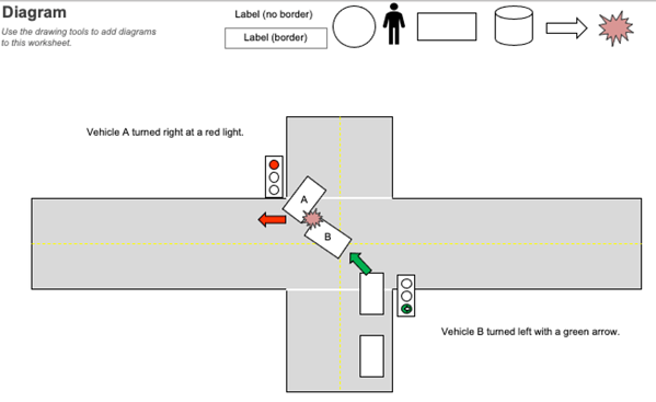 Diagram - Wreck at Intersection