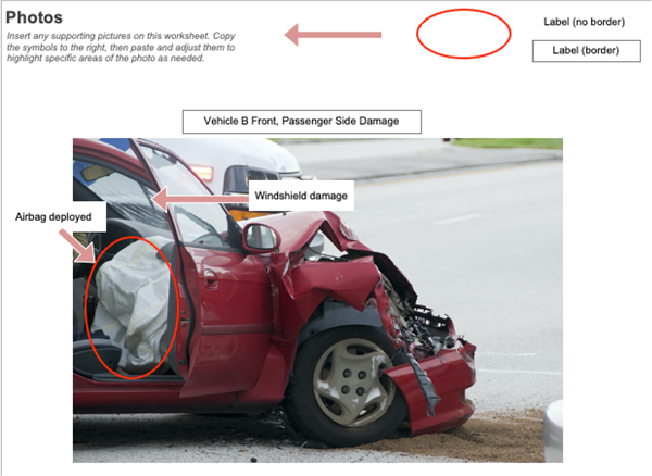 Labeled-Car Damage Image